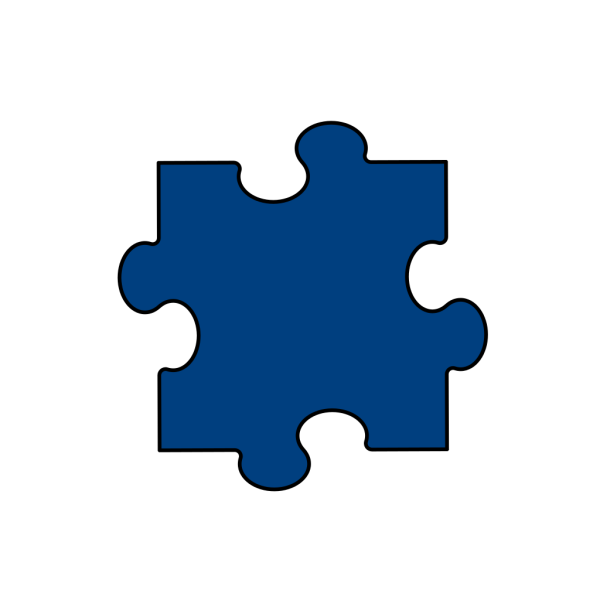 Deep Blue Puzzle Piece PNG Clip art