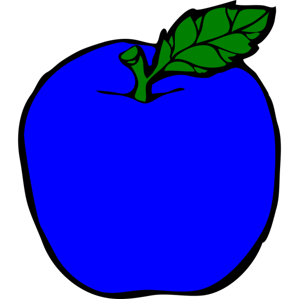 Dark Blue Apple PNG Clip art