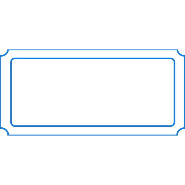 Ticket Blank Blue PNG Clip art