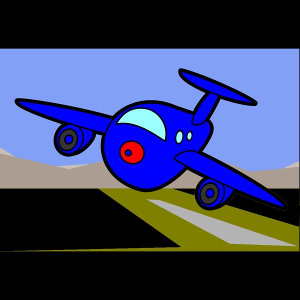 Big Blue Plane PNG Clip art
