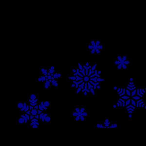 Blue Snowflakes PNG Clip art
