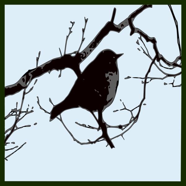 Blue Bird Silhouette  PNG Clip art
