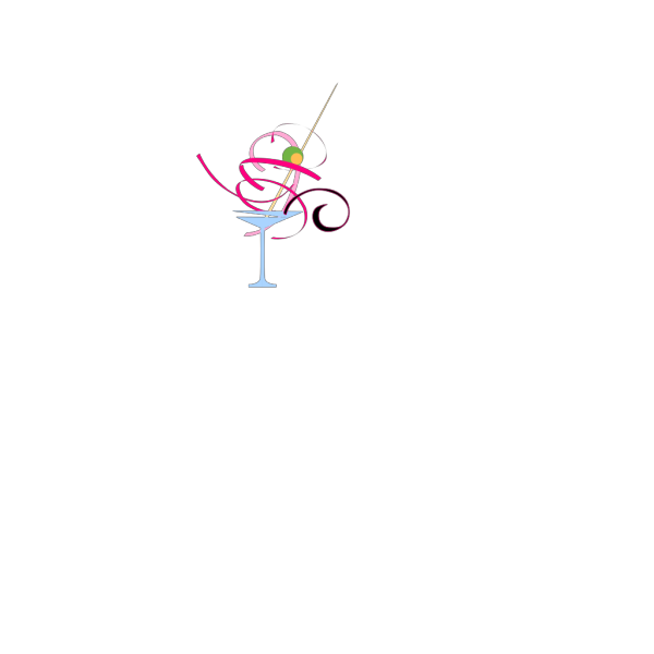 Pink And Blue Martini PNG Clip art