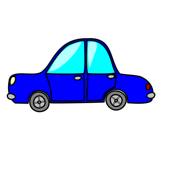 Cartoon Blue Car PNG clipart