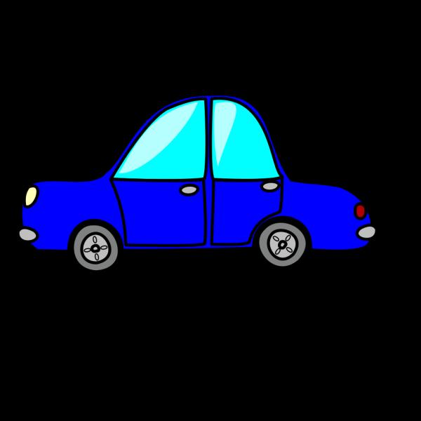 Cartoon Blue Car PNG Clip art