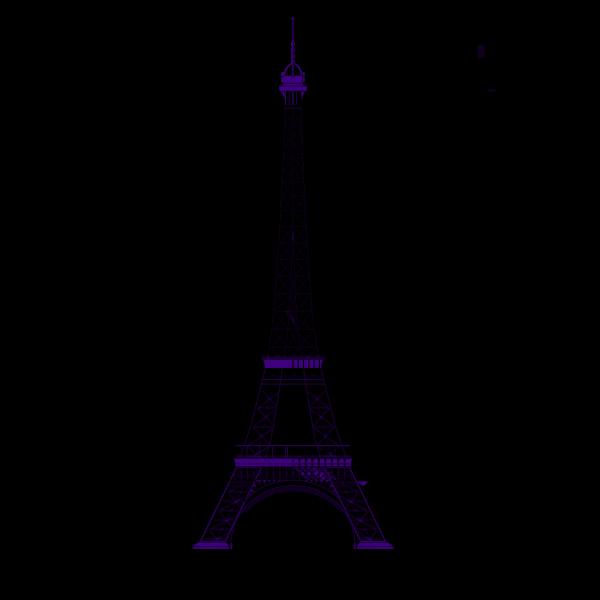 Blue Eiffel Tower PNG Clip art