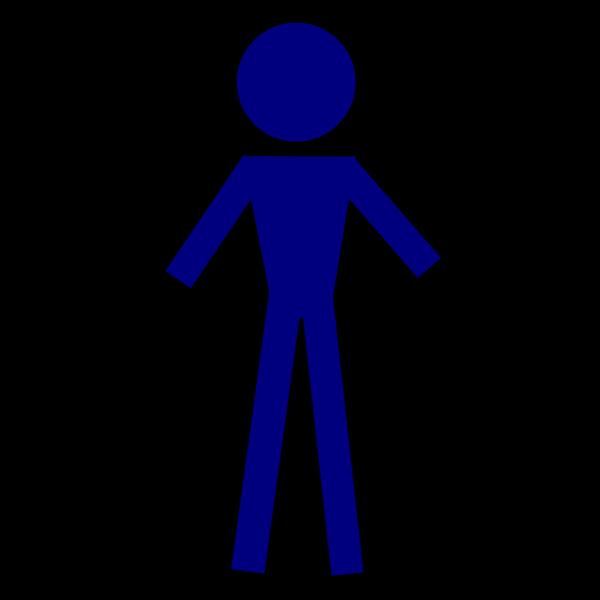 1person-blue PNG Clip art