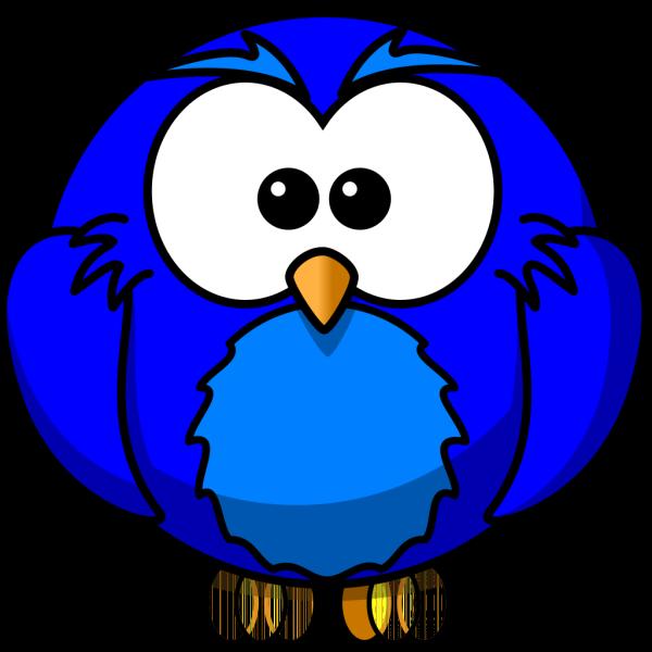 Blue Hoot  PNG Clip art