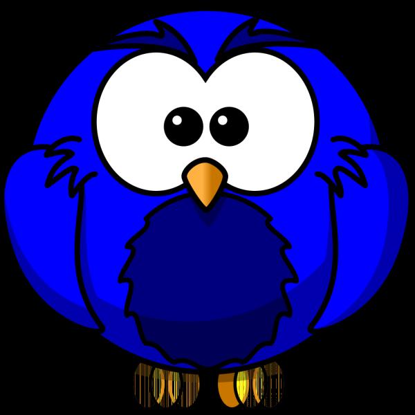 Dark Blue Hoot  PNG Clip art