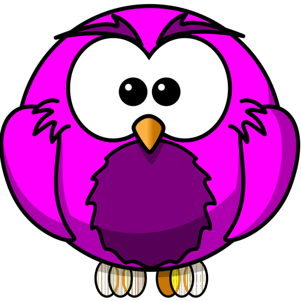 Blue And Purple Hoot  PNG Clip art