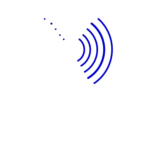 Radio Waves Pink And Blue PNG Clip art