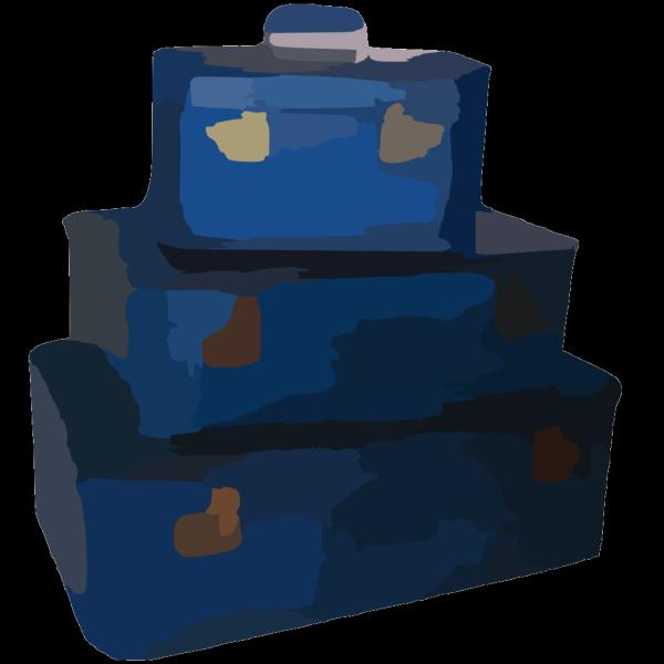 Largerbpicbluesuitcase PNG Clip art