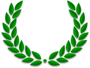 Blue Laurel Wreaths PNG Clip art