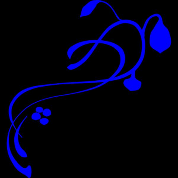 Hanging Vine Royal Blue PNG Clip art