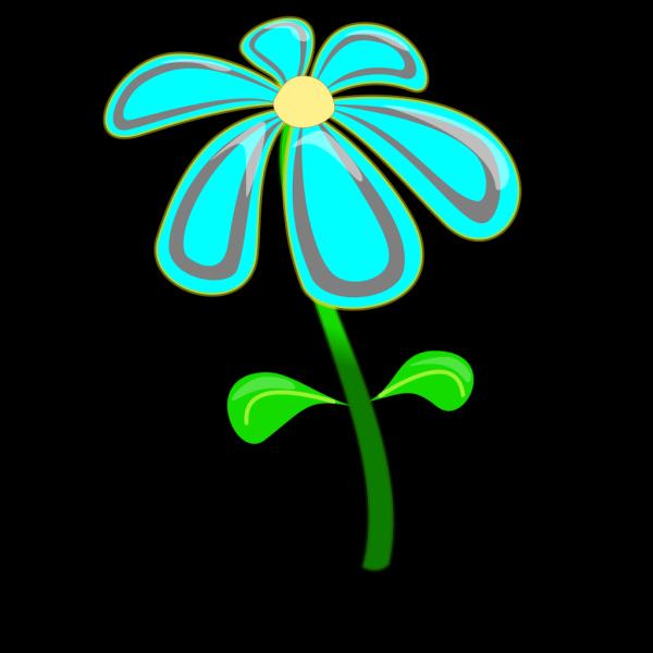Flower Blue Cartoon PNG Clip art