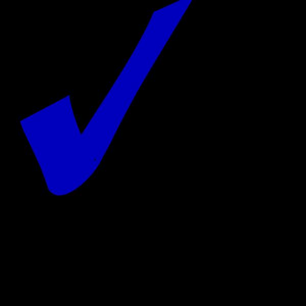 Check - Darker Blue PNG Clip art