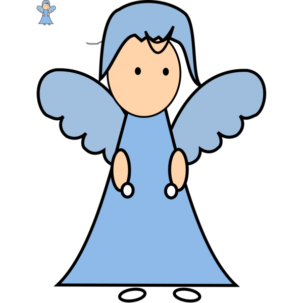Angel (pre-existing) Colored It In PNG Clip art