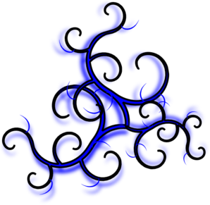 Swirls Blue PNG images
