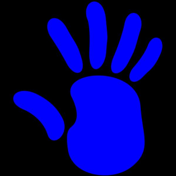 Blue Palm Frond PNG Clip art