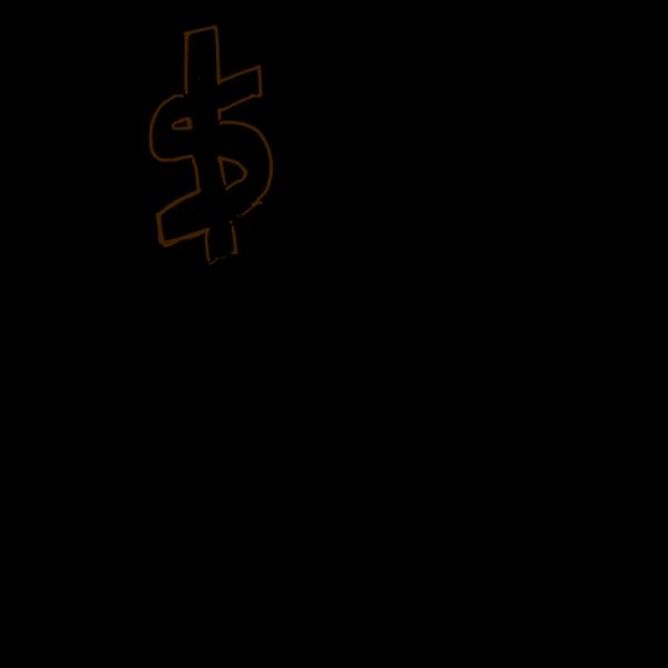 Navy Blue Dollar Sign PNG Clip art