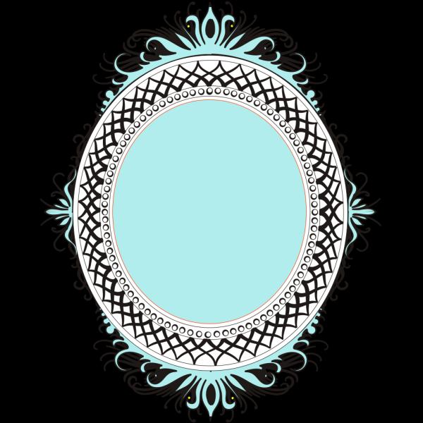 Oval Orange Blue Filled PNG Clip art