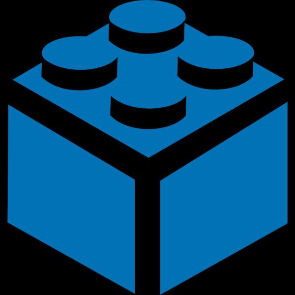 Blue Lego Block PNG Clip art