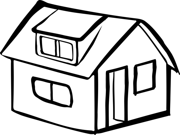 Blue House PNG clipart