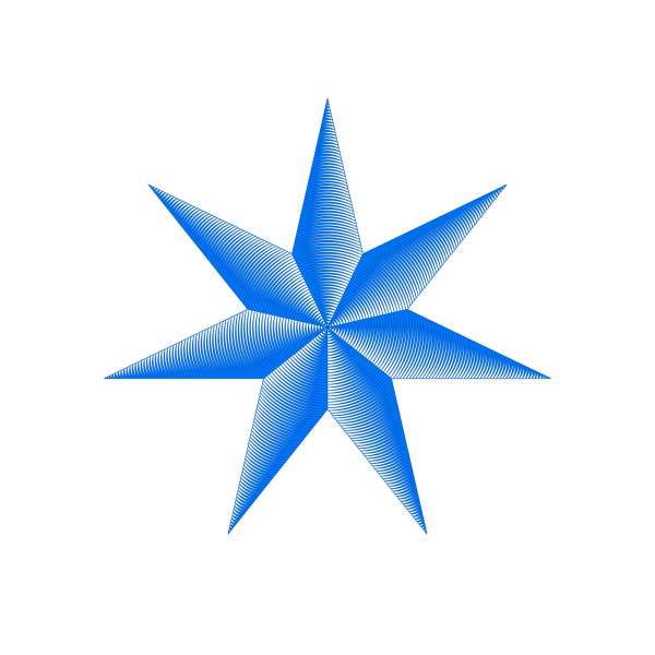 Blue Star PNG clipart