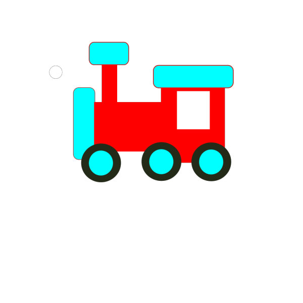 Red And Blue Choochoo PNG Clip art