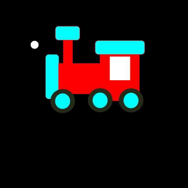 Red And Blue Choochoo PNG Clip art