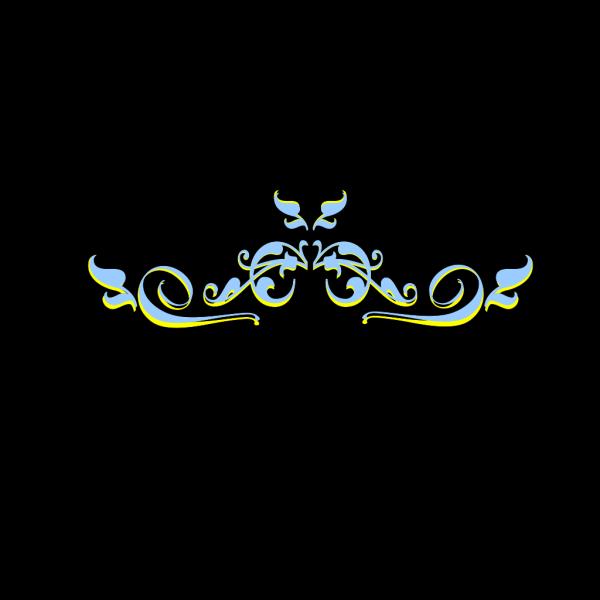 Swirl Yellow Blue Peri PNG Clip art