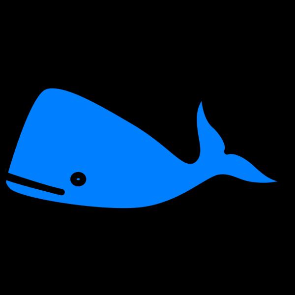 Bright Blue Whale PNG Clip art
