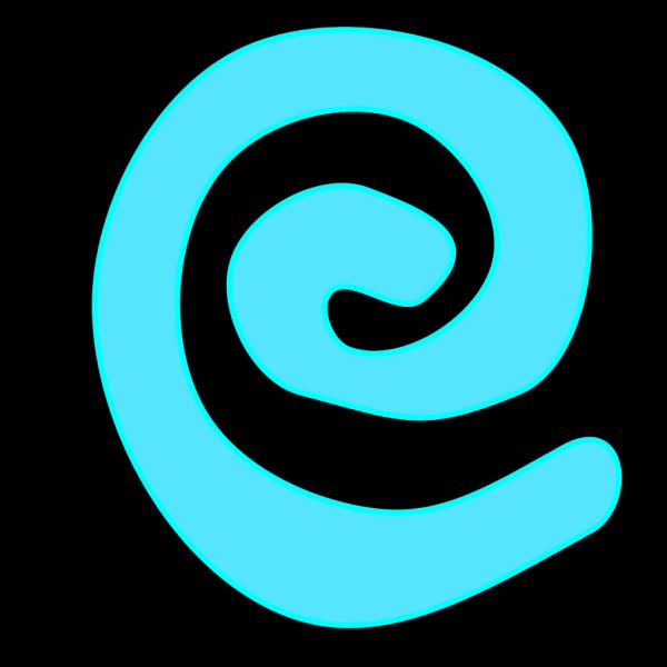 Spiral W Shadow PNG Clip art