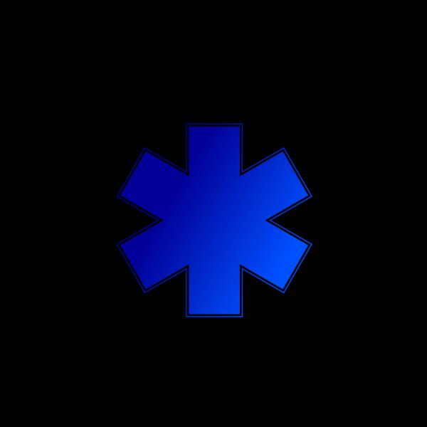 Blue Medical Cross PNG Clip art
