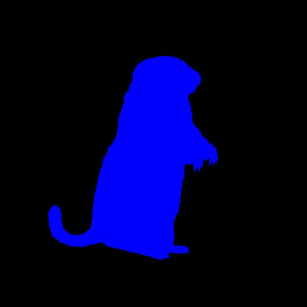 Blue Groundhog PNG images