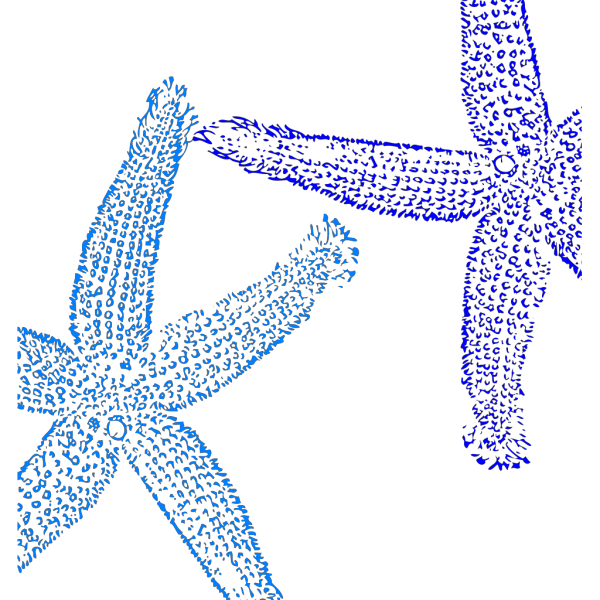 Blue Starfish PNG Clip art