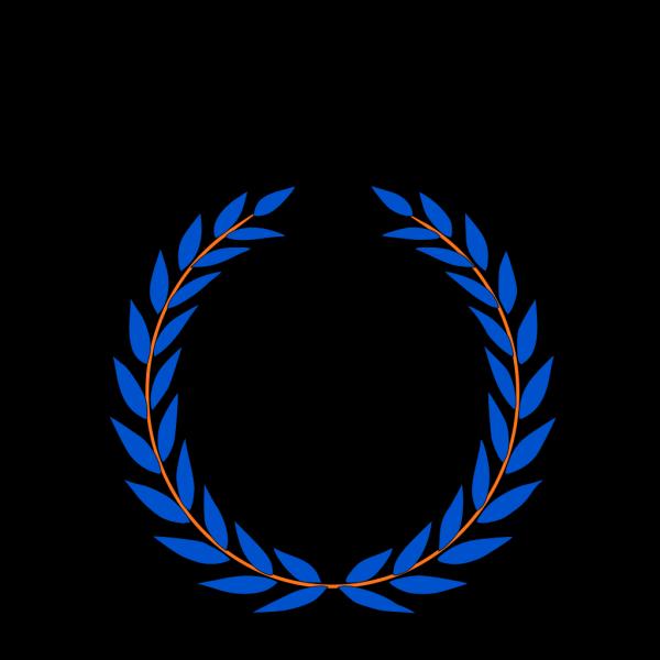 Blue/orange Laurel PNG Clip art