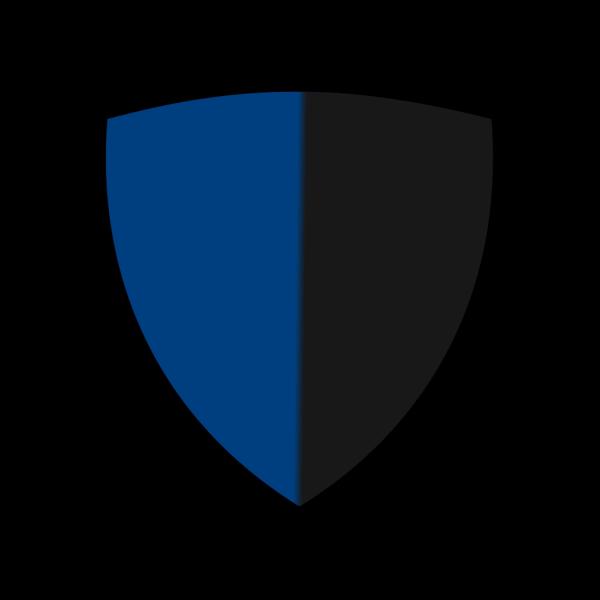 Light Blue Gradient Shield PNG Clip art