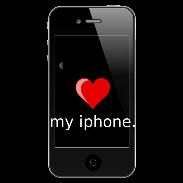 Blue Iphone In Box PNG Clip art