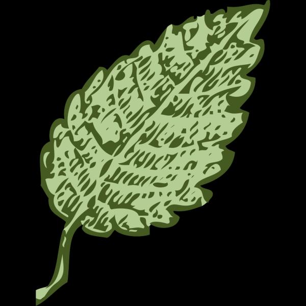 Blue Single Leaf PNG Clip art