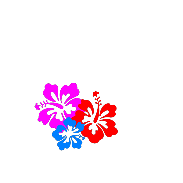 Hibiscus Blue PNG clipart