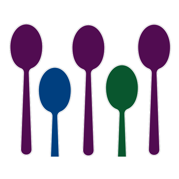 Blue Spoons PNG image
