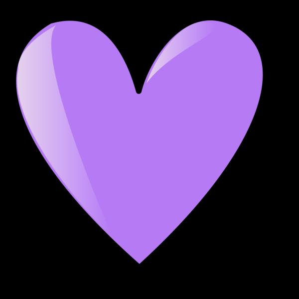 Perriwinkle Blue Heart PNG Clip art
