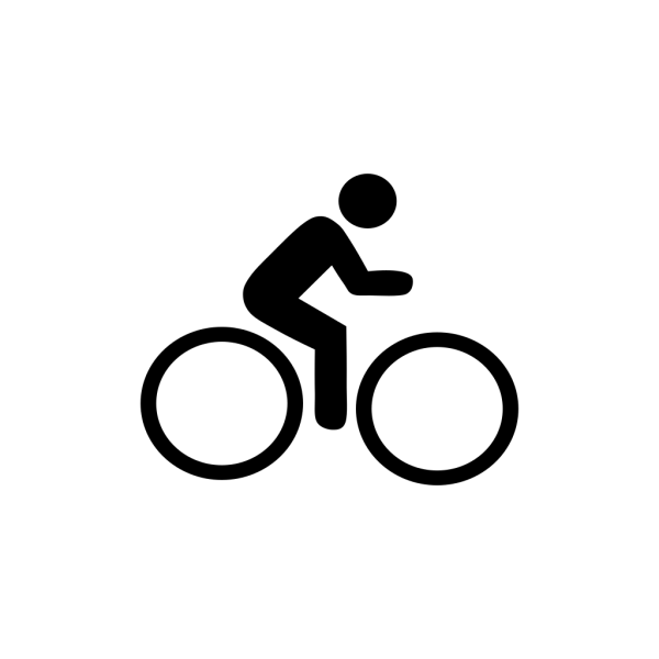 Biking Icon Blue PNG Clip art