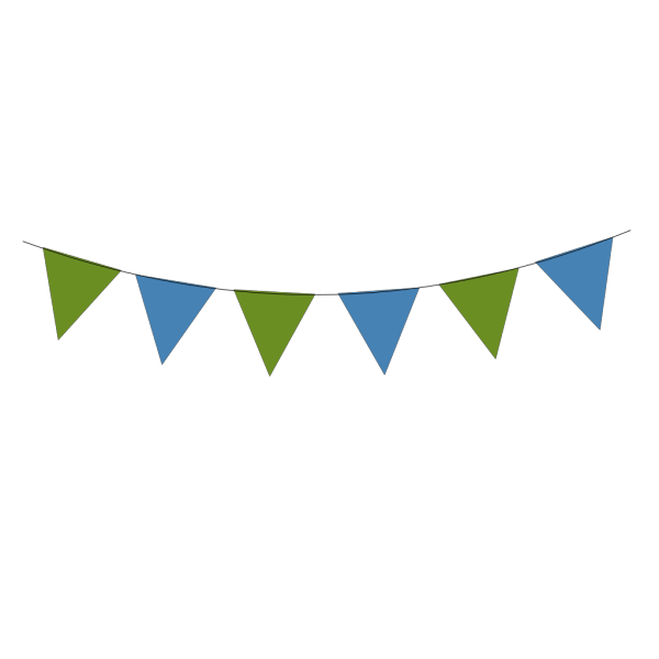 Green Blue Bunting PNG images