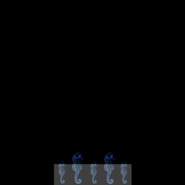 Seahorse Border PNG Clip art