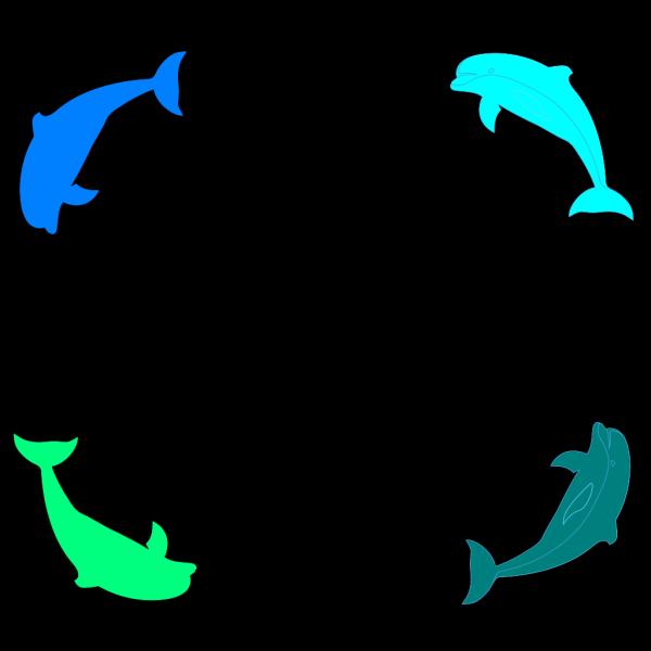 Dolphin Border PNG Clip art