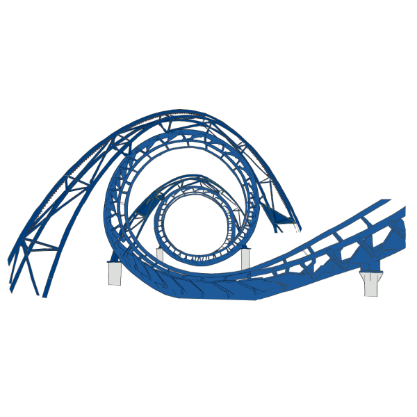 Rollercoaster Shades Of Blue PNG Clip art