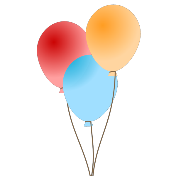 Three Balloons  PNG Clip art