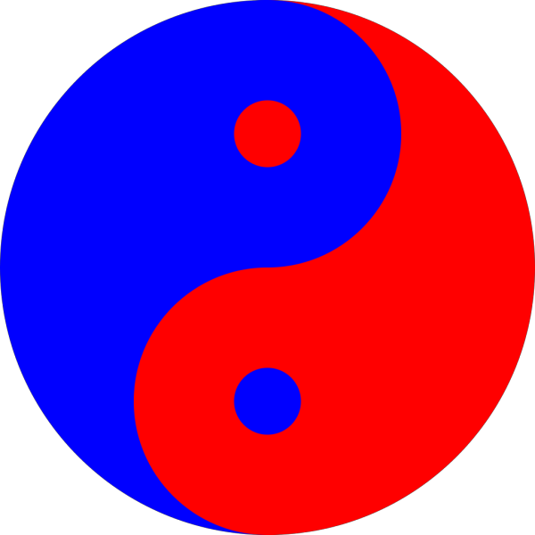 Yinyang Blue Red PNG Clip art